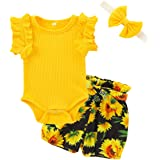 Toddler Baby Girl Clothes Floral Ruffle T-Shirt Tops Pants Trouser Headband Kid Outfits Set
