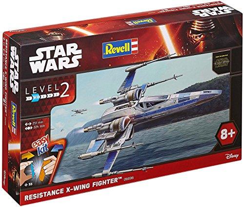 Revell Modellbausatz Star Wars Resistance X-wing Fighter im Maßstab 1:50, Level 2, originalgetreue Nachbildung mit vielen Details, Steckmechanismus, mit vorbemalten und vordekorierten Teilen, 06696