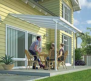 hochwertige aluminium terrassen berdachung terrassendach 400x1276cm txb wei. Black Bedroom Furniture Sets. Home Design Ideas