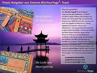 Yogatasche »SunitaÂ« von #DoYourYoga aus hochwertigem Canvas (Segeltuch), aufwendig verarbeitet, für Yogamatten bis zu einer Größe von 180 x 60 x 0,3 cm, in verschiedenen Edel-Designs erhältlich.
