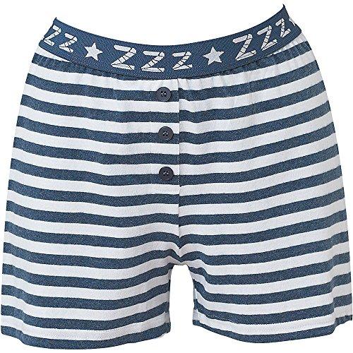- 61Y3IFRL1hL - Love To Sleep Striped Soft Jersey Women's Loungewear Pyjama Shorts