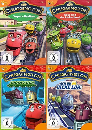 Chuggington Volume 9 + 10 + 11 + 12 Collection (4-DVD)