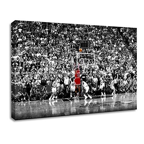 BPAGO Michael Jordan berühmten Foul, Line Dunk Vintage Sport Poster Print Poster Alte Foto Leinwand Bilder fertig Zum Aufhängen Antik 16 x 24 inch 16