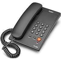 Hello ! TF-500 Basic Corded Landline Phone for intercom and EPABX Desk & Wall Mountable (Black)
