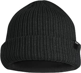 Eono by Amazon - Beanies Hat for Men Women Unisex Winter Cuffed Plain Hat Soft Warm Knitted Beanies Cap