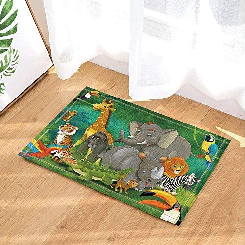 Safari Animal Salvaje Para Niños Decoración Elefantes Y Jirafas Familia En Alfombras...