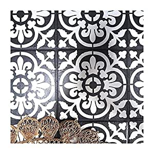 Valencia Tile Furniture Wall Floor Stencil for Painting - Medium