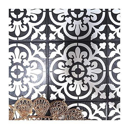 VALENCIA FLIESE Wand Möbel Fußboden Schablone für Malerei - Groß