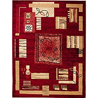 WE LOVE RUGS CARPETO Area Rug - Red - Classic Traditional Home Durable Carpet for Living Room Dininng Room Bedroom Short Pile - Easy To Clean VERONA 130 x 190 cm (4ft x 6ft3) Large