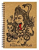 #7: Labartry's Artist Sketch Book Wiro Bound A5 - 60 Pages (The Fearless Kali), Brown Cover