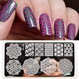 New BORN PRETTY Lace Chevron Nail Art St...