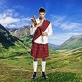 Kostümplanet® Schotten-Kostüm Herren Kilt + Mütze + Schärpe Schotte Faschings-Kostüm große Größe 48/50 -