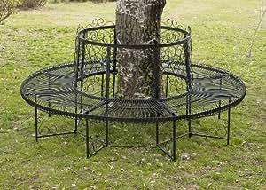 dandibo banc rond xxl d 200 cm en m tal banc banc circulaire banquette banc de jardin fer forg. Black Bedroom Furniture Sets. Home Design Ideas