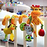 #6: Baby Grow Jollybaby Baby Car Bed Hanging Around Spiral Giraffe Discovery Activity Spiral Toy 0M+(Giraffe & Elephant)