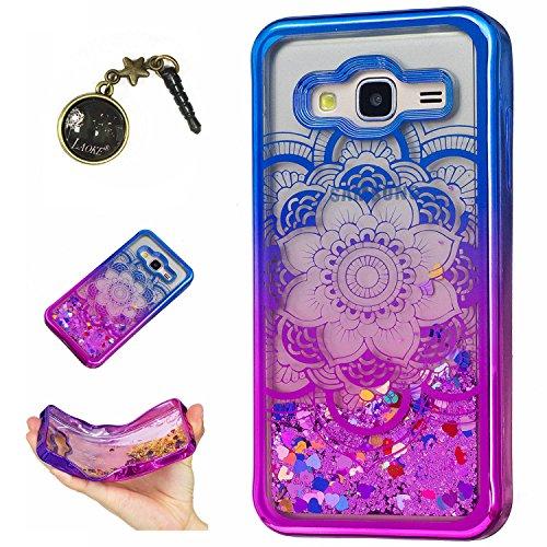 Preisvergleich Produktbild Laoke für Samsung Galaxy J3 (2016) J310 Hülle Schutzhülle Handy TPU Silikon Hülle Case Cover Durchsichtig Gel Tasche Bumper ( + Stöpsel Staubschutz) (9)