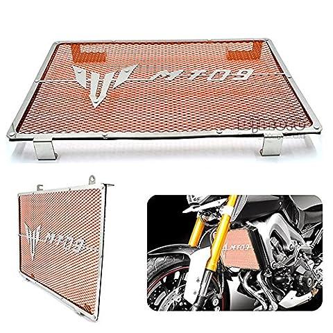 BJ Global Cadre de protection en acier inoxydable pour radiateur moteur de moto Yamaha MT09201420152016