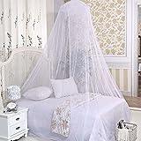 Stonges Grande moustiquaire de lit, blanc