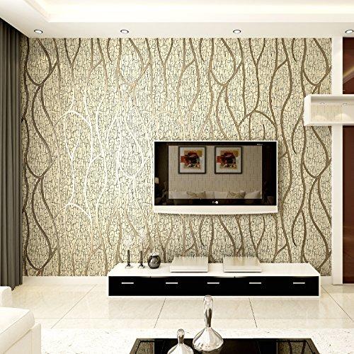 sionale Relief, modernen Vliestapete, Fernseher Hintergrund, Wand-Papier, tief Druck, dick Linien, Mandel, Tapete nur ()