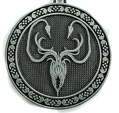 "Game of Thrones House Greyjoy Metal Embossed Kraken Keyring Chain ""We Do Not Sow"""