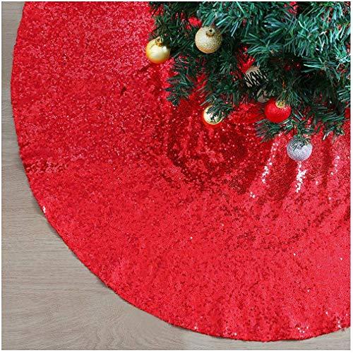 QueenDream Falda roja de árbol de Santa de 36 pulgadas Falda de ...