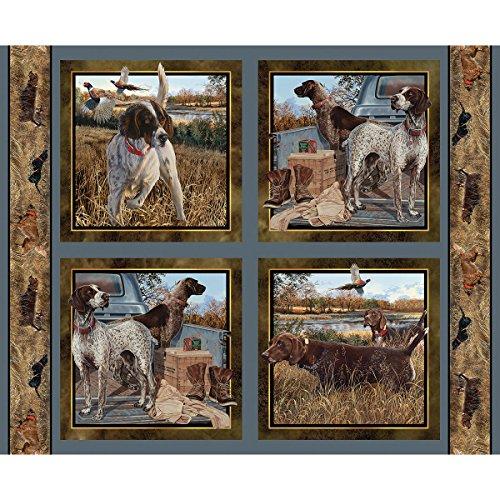 Baumwolle Kissen Panel (Hund Stoff Wild Flügel Kissen Panel Dog Days Fabric by the Panel)