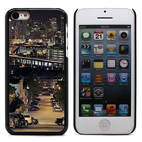 Graphic4You San Francisco Golden Bridge Postkarte Ansichtskarte Design Harte Hülle Case Tasche Schutzhülle für Apple iPhone 5C Design #3