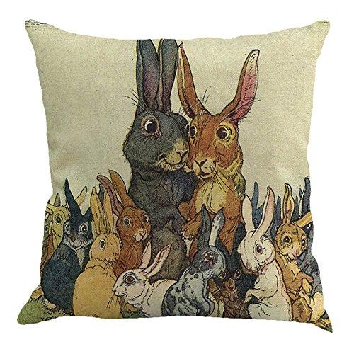 HuhuaFedere del Cuscino di Pasqua Copridivano del Divano del sofà della Decorazione della casa del sofà del Letto del sofà (E)