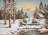 grafitec Gedruckt Tapisserie-Set–Winter Sunset