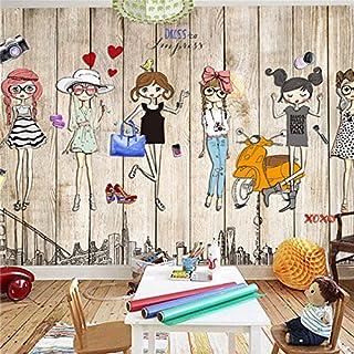 Große 3D Stereo Tapete Wandbild Board Hintergrund Cartoon Hintergrund Rückseite Schlafzimmer TV Hintergrund Wand, 3XL(14'7