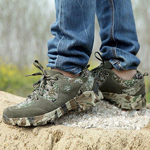 WZG Männer neue Herbst-Schuhe atmungsaktive Mesh-Outdoor Wanderschuhe Sportschuhe der Männer Schuhe Spitze läuft woodland camouflage