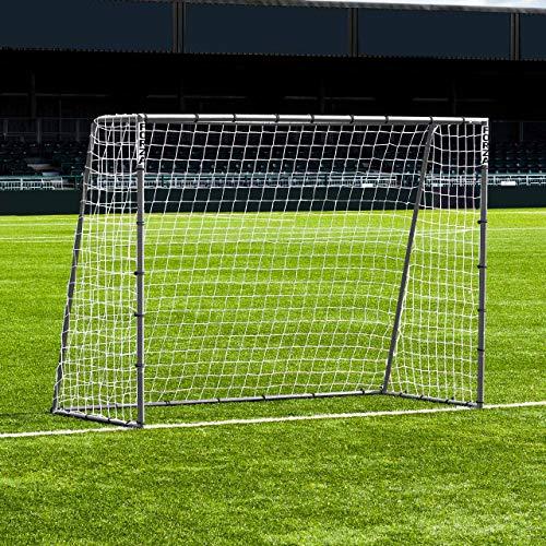 FORZA Steel42 Fußballtore - hochwertiges Garten Tor aus Stahl - 3 Größen erhältlich (2,4m x 1,8m)