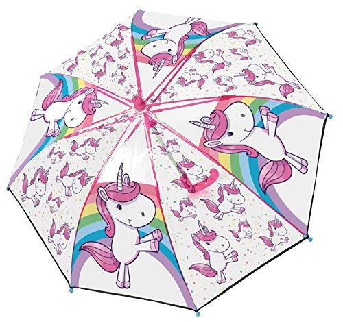 Einhorn Regenschirm für Kinder, 100% POE, robuster Stockschirm, Durchmesser 76cm