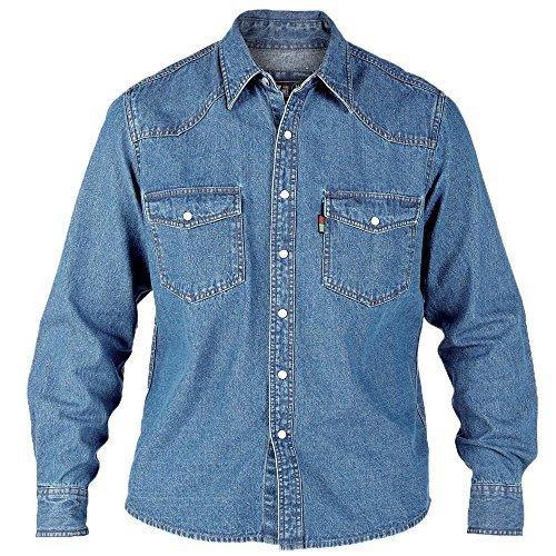 Jeans Hommes T-shirt By D555 Duke Grand King Size Délavé - OCCIDENTAL