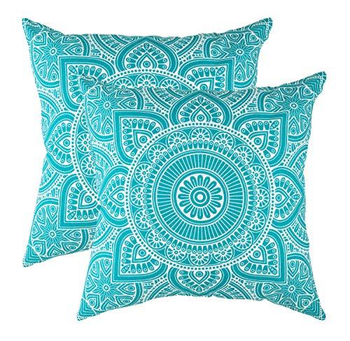 TreeWool - Pack de 2 - Mandala Acento Decorativo Fundas de cojín, 100% algodón 55 x 55 cm / 22 x...