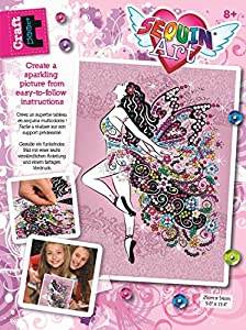 Sequin Art 8311809 Teen Craft - Kit de Manualidades con Lentejuelas (Marco de poliestireno, Plantilla de Imagen, Lentejuelas, lápices e Instrucciones, para niños a Partir de 8 años)
