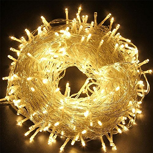 Tophie Luci Stringa Fata Luce di Natale 400 LED Night Light Warm White Impermeabile Luci Della Stringa Fairy Stringa Lights Tenda Luci Decorativa Xmas Festival,Wedding Party,Home,Garden,Bedroom