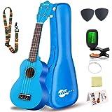 Set di ukulele soprano per bambini e adulti - kit di avvio per ukulele da 21 pollici con - borsa, accordatore, libro di canzo