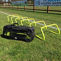 The Soccer Store Speed and Agility Football Hurdles - Pack of six - Available in 3 sizes (6 inch hurdles (pack of 6) - With Bag)
