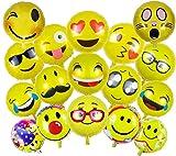 ballonfritz Emoji Partyfotos Luftballon Set 15+2 - für Einzigartige Bilder Bei Hochzeit, Party, Geburtstag Oder Anderen Anlässen!