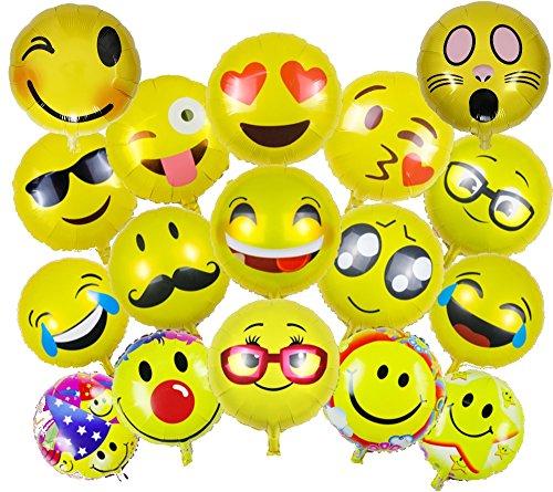 emoji luftballon ballonfritz Emoji Partyfotos Luftballon Set 15+2 - für Einzigartige Bilder bei Hochzeit, Party, Geburtstag oder Anderen Anlässen!