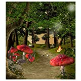 SODIAL(R) 3X5ft Forest Woodland Vinyl Photography Background Backdrop Photo Studio Props