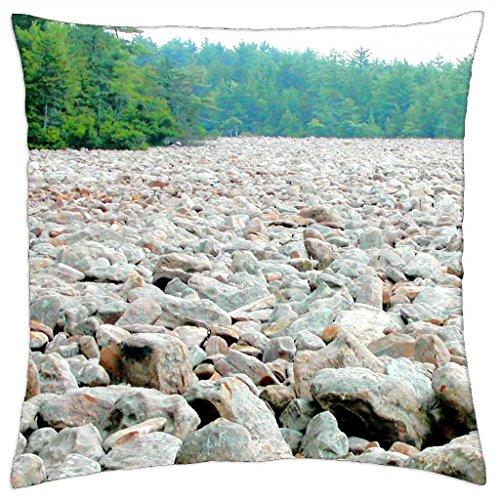 iRocket - boulder field..Pocono Mountains Pa. - Throw Pillow Cover (24