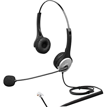 4call H502cm Dual Ear Call Center Telephone Rj Headset With Noise