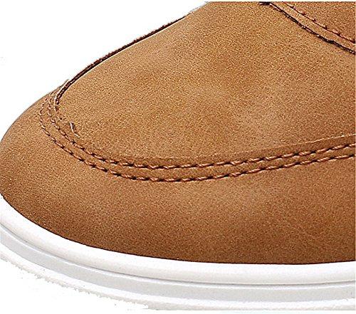 AgeeMi Shoes Herren Rund Schließen Zehe Low Top Freizeitschuhe Straßenlaufschuhe Brown