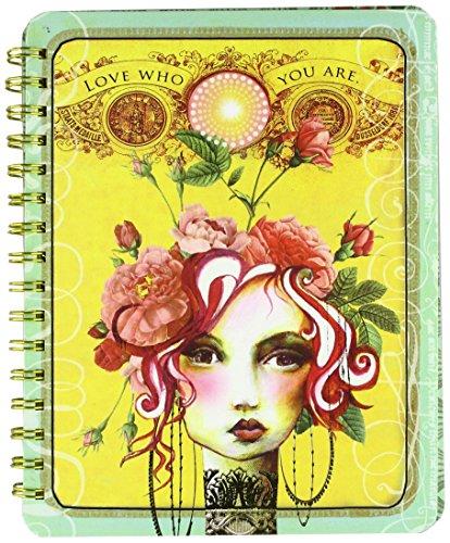 Papaya Art Rose Spirale Notebook (nb019) (Notebook Paper 7 X 9)