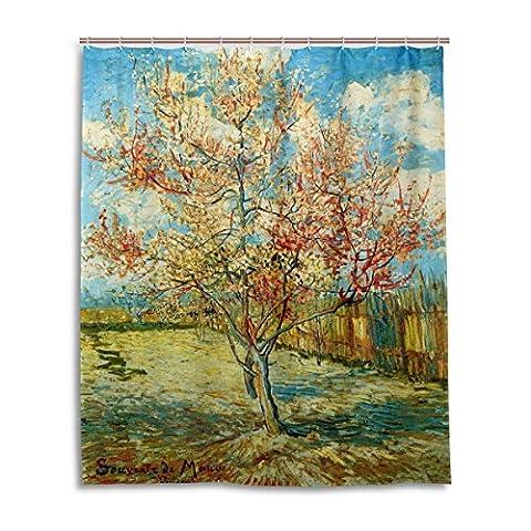 Rideau de douche de bain 152,4x 182,9cm, van Gogh Arbres Masterpiece Peach Blossom, à la moisissure Polyester Rideau de salle de bain en tissu