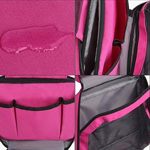 Reise-Kulturbeutel für Damen und Herren zum Aufhängen, Toilettenartikel, Make-up, Tasche mit Reißverschluss, unisex, Luxus-Waschbeutel zum Aufhängen, schwarz (schwarz) - 51042 Rot (Rose Red)