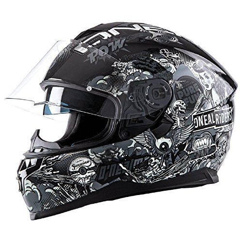 Oneal Challenger manovella casco moto - Black White - Medium