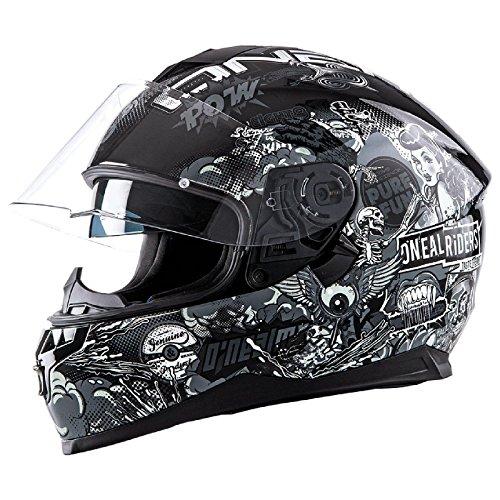 Oneal Challenger manovella casco moto - Black White - Small