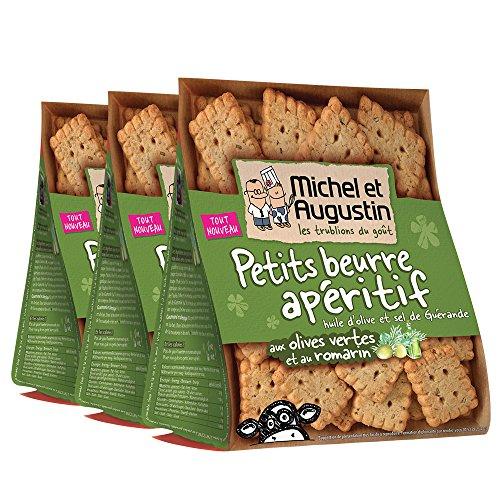 Michel et Augustin Petits Beurre Olives Romarin 100 g - Lot de 3